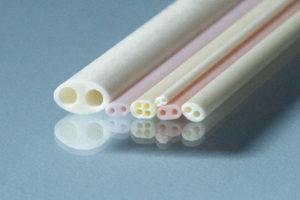 Alumina two bore oval tubes