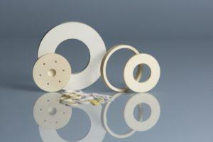 Alumina Ceramic Washers in Multiple Shapes