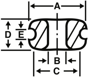 Double Flanged Eyelet Diagram